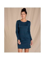 TOAD & CO Robe à manches longues Windmere II / Small / Bleu