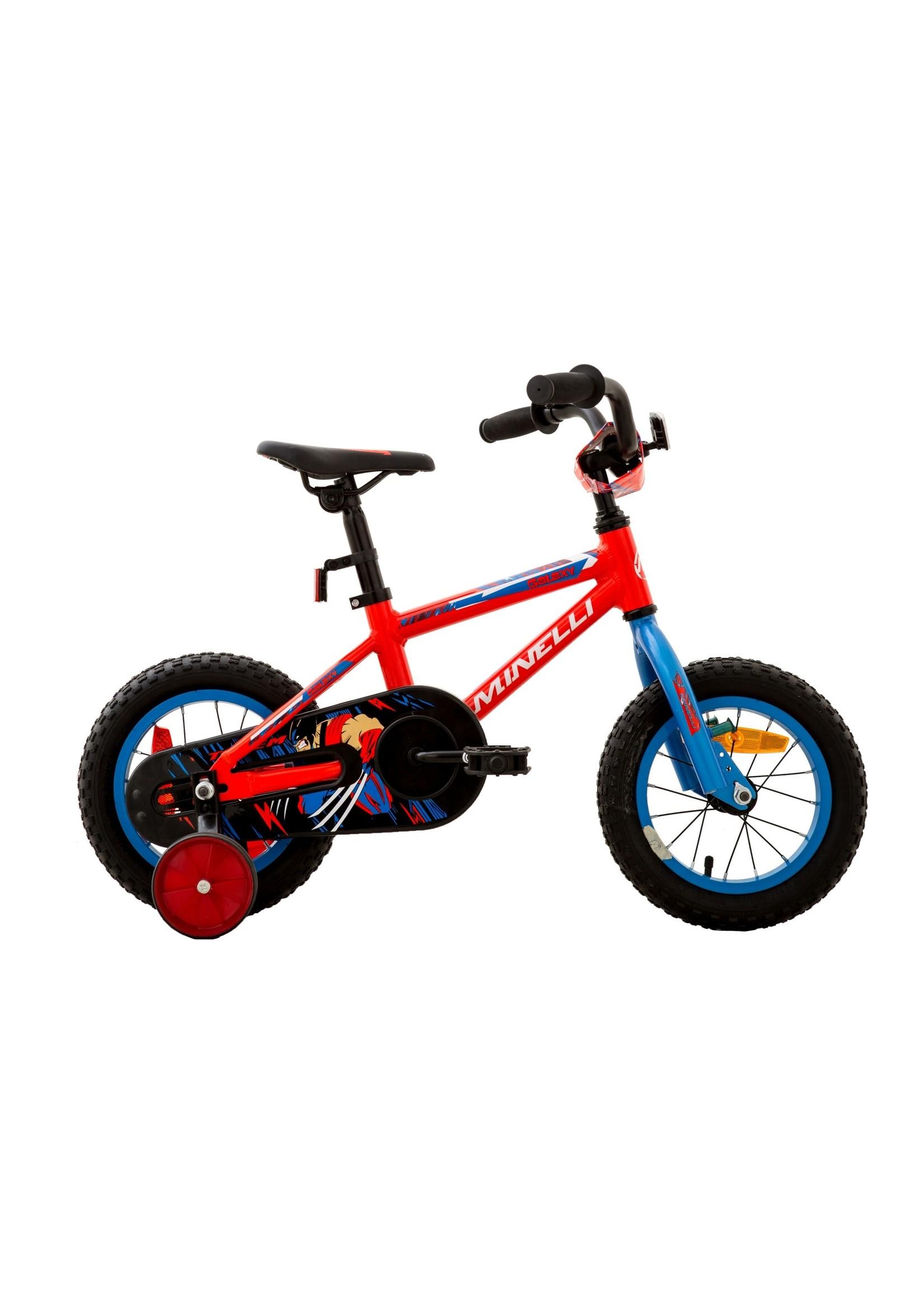 MINELLI Vélo Galaxy 12 - Bleu/Rouge