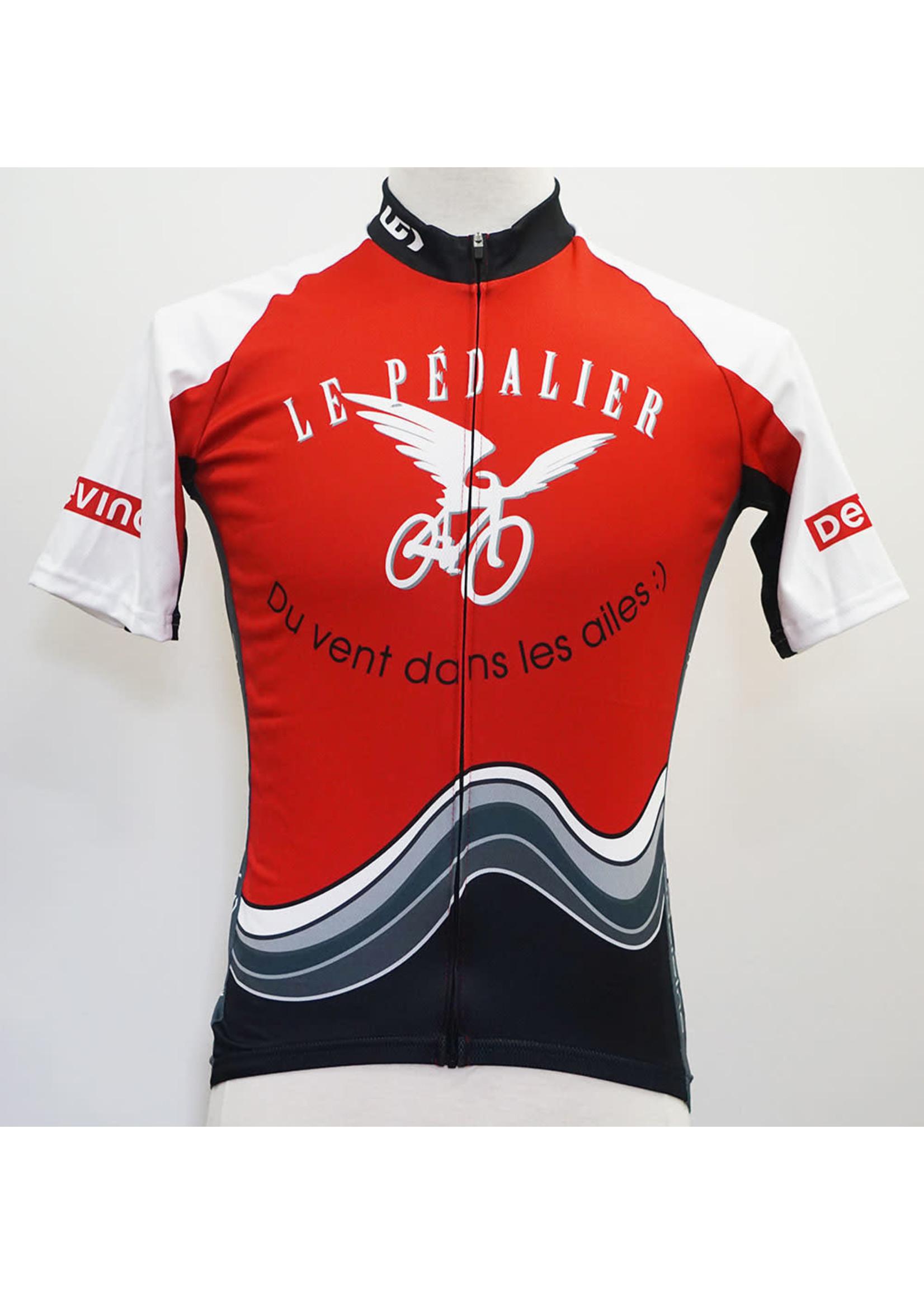 LOUIS GARNEAU Maillot Le Pédalier / Full zip / Rouge & noir