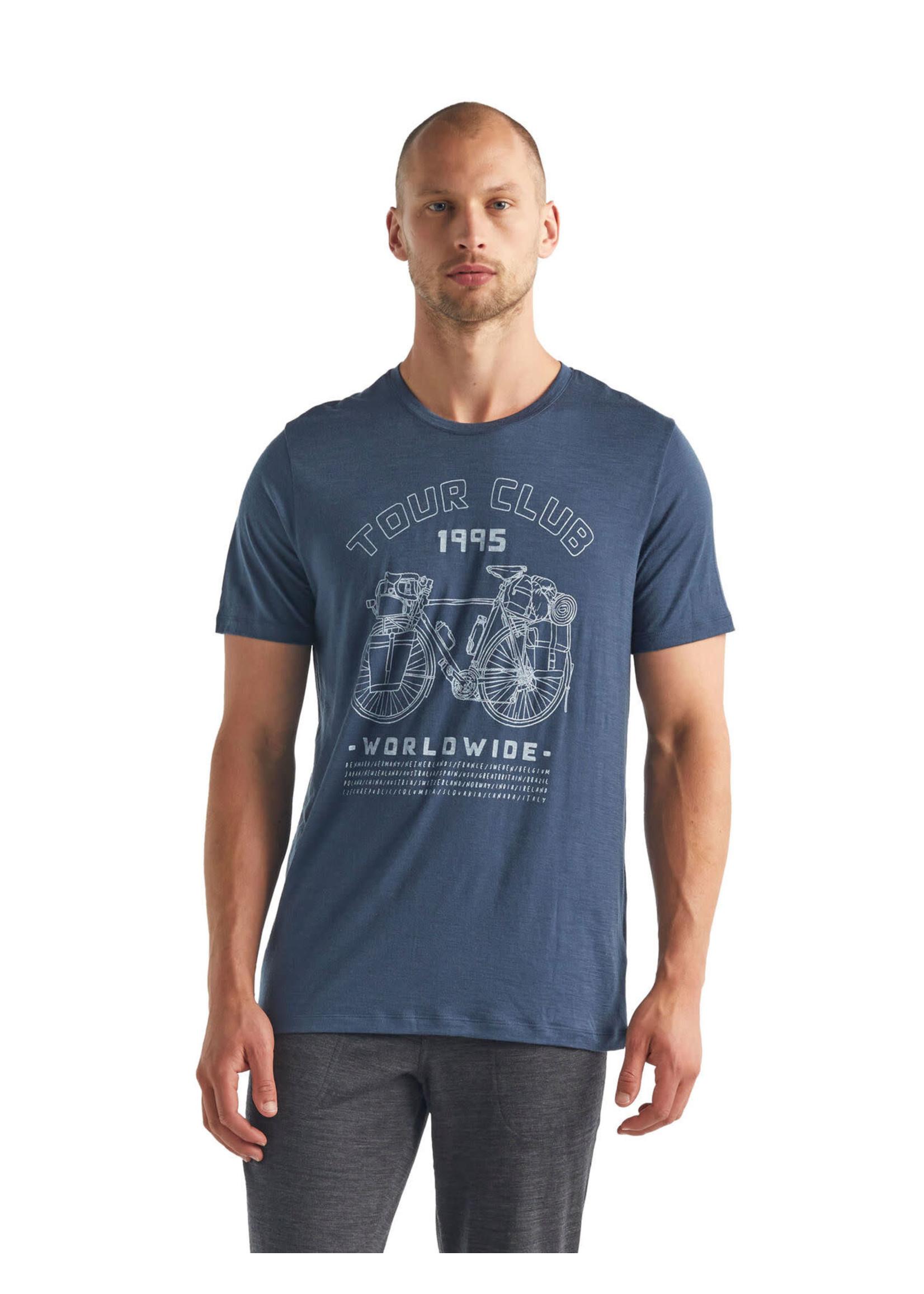 ICEBREAKER T-shirt à col rond Tech Lite Tour Club 1995