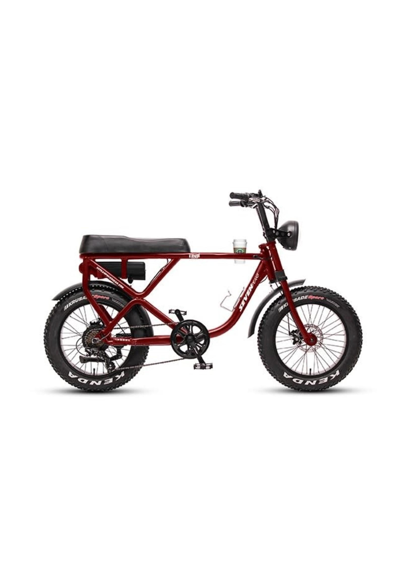 """SEVEN PEAKS Vélo électrique Kawai / 20"""" / Burgundy"""