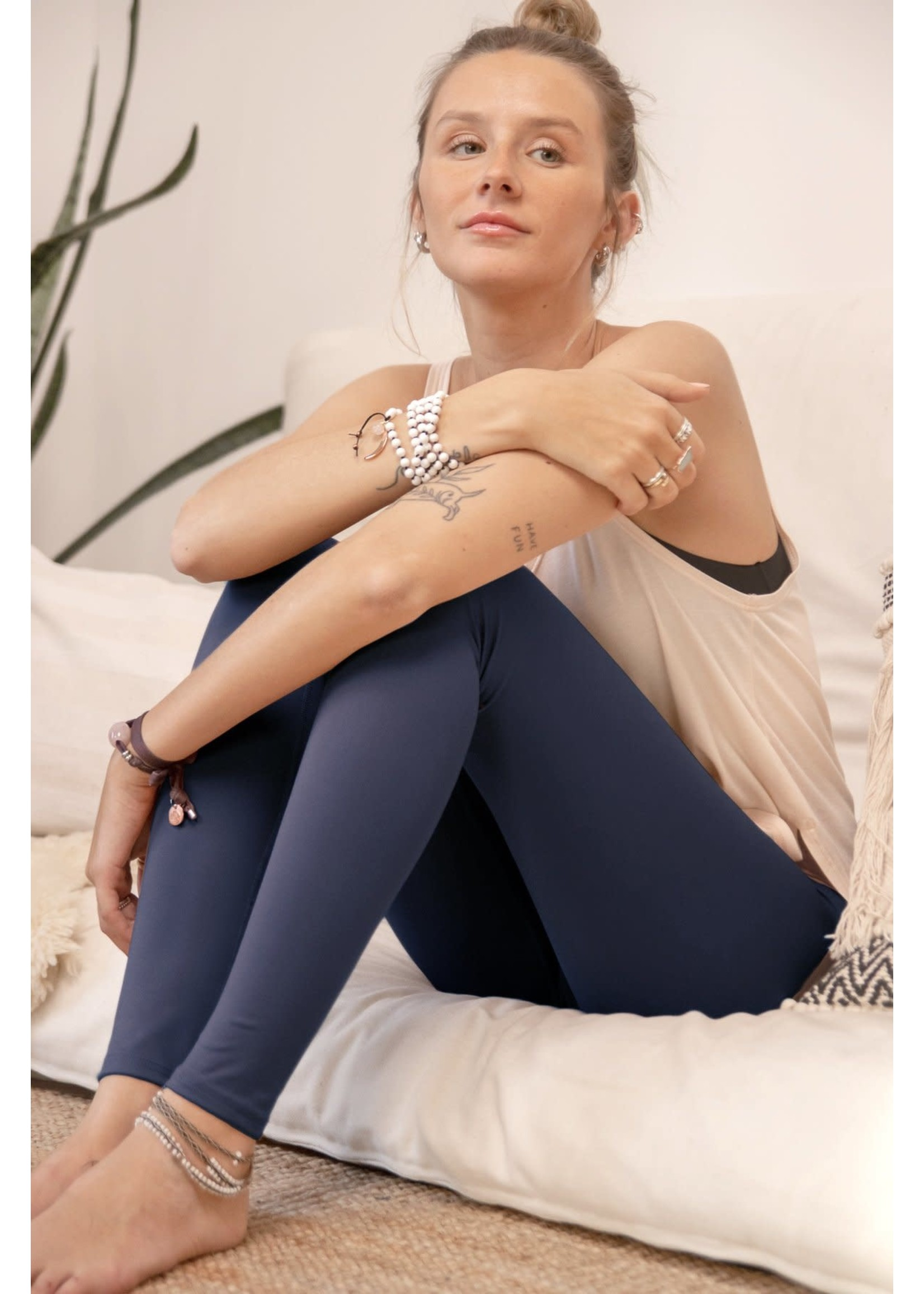 Rose Buddha Legging Taille Haute Divin