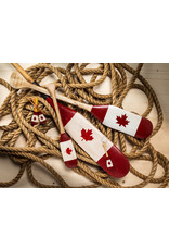 Crossed Paddles with Flag Ornament