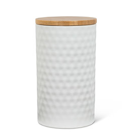 Large Hexagon Textured Canister