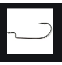 Owner Owner Offset Worm Hook with Cutting Point (6 pcs)