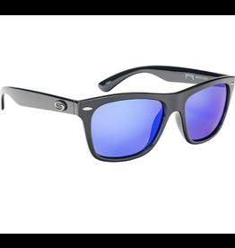 Strike King Polarized Cash Shiny Black Blue Mirror Gray Base Sunglasses
