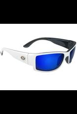 Strike King Strike King Plus Ouachita Sunglasses - White and black frame w/ Blue lens