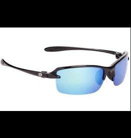 Strike King Strike King Sabine Sunglasses (Shiny Black-Blue Mirror) Polarized