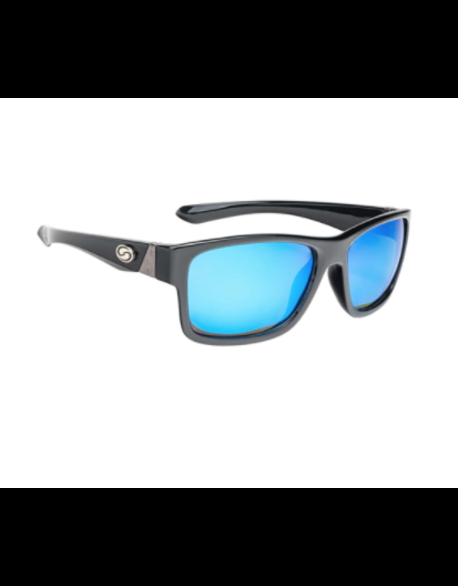 Strike King Strike King Pro Shiny Black Frame Multi Layer White Blue Mirror Grey Base Lens