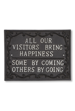 Abbott All Visitors Bring Happiness Sign