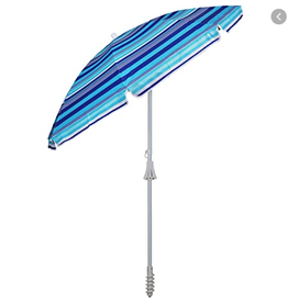 Beach Mania Classic Oxford Vent Beach Umbrella Assorted Colours