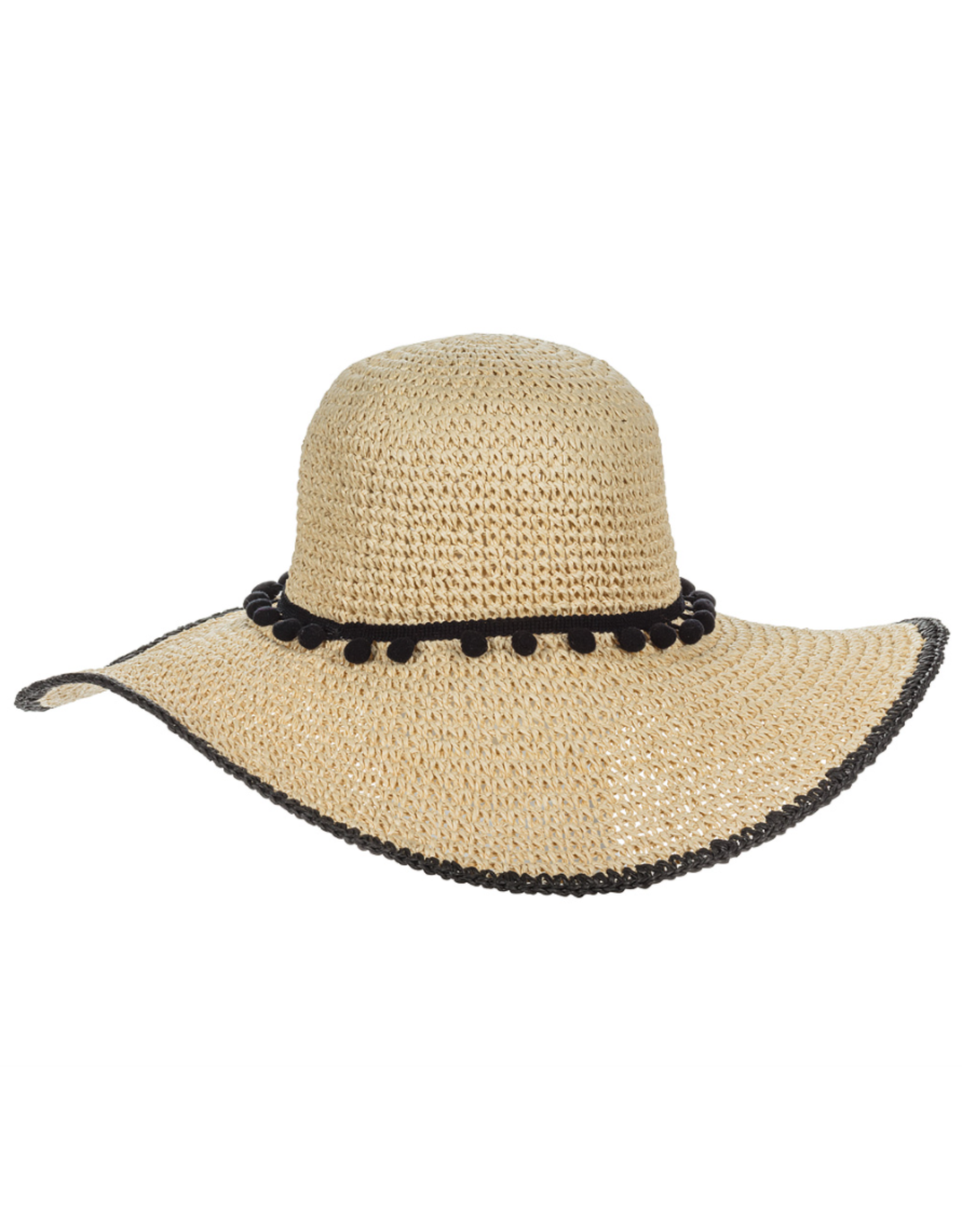 Sun Hat with Pompom & Rim