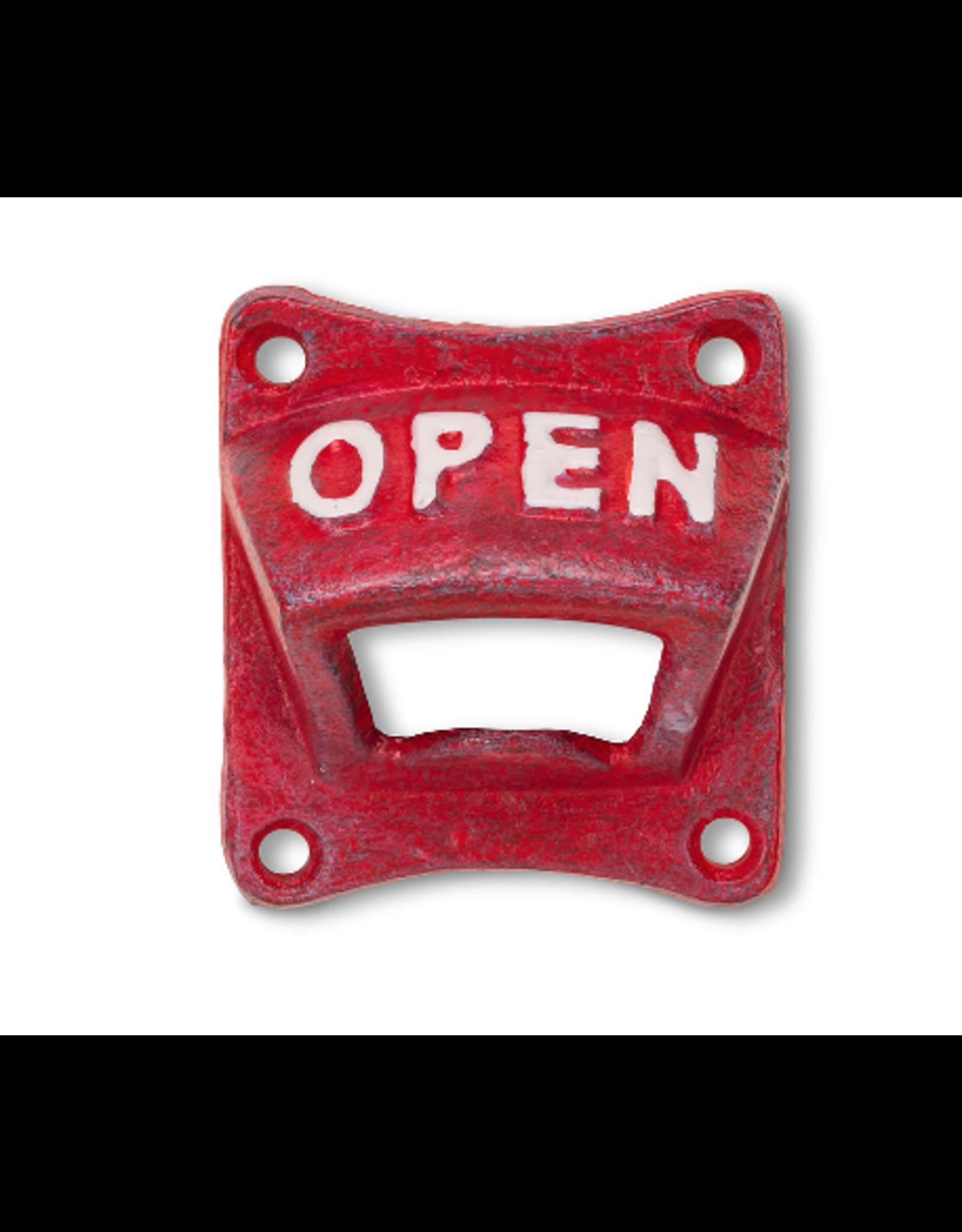 """Abbott Square """"OPEN"""" Wall Bottle Opener"""