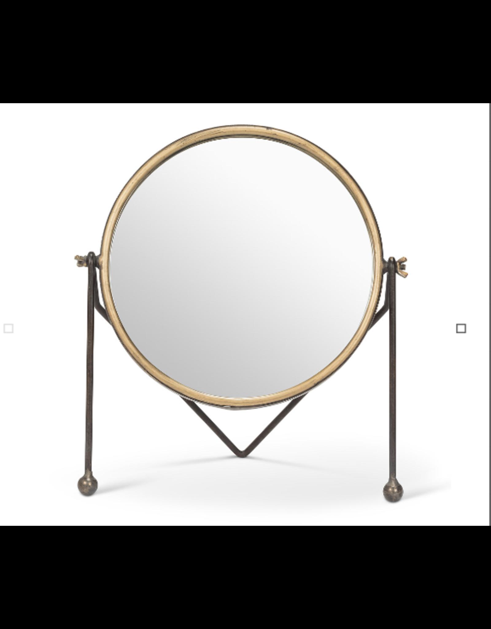 Abbott Round Mirror with Legs