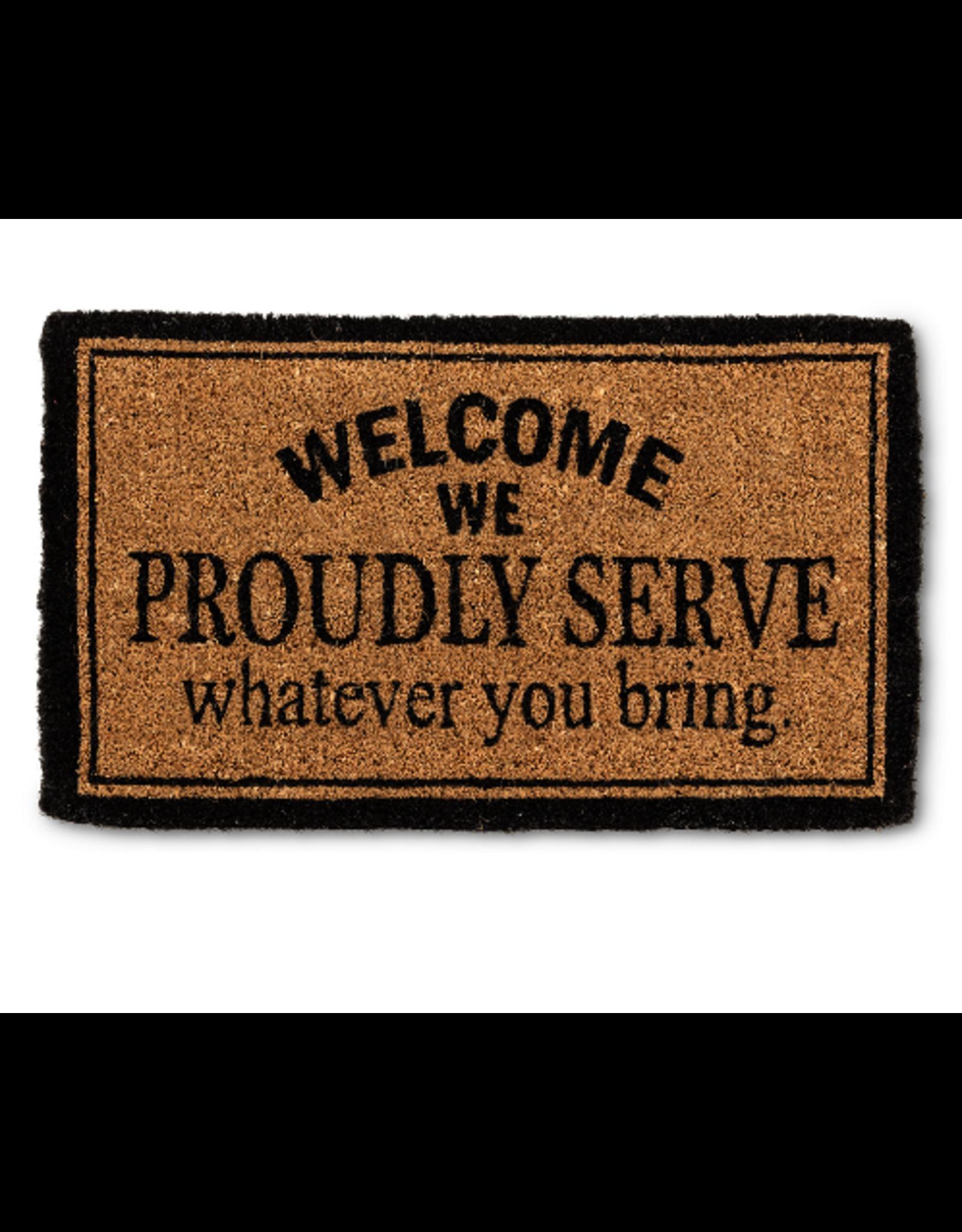 """Abbott """"We Proudly Serve..."""" Doormat"""