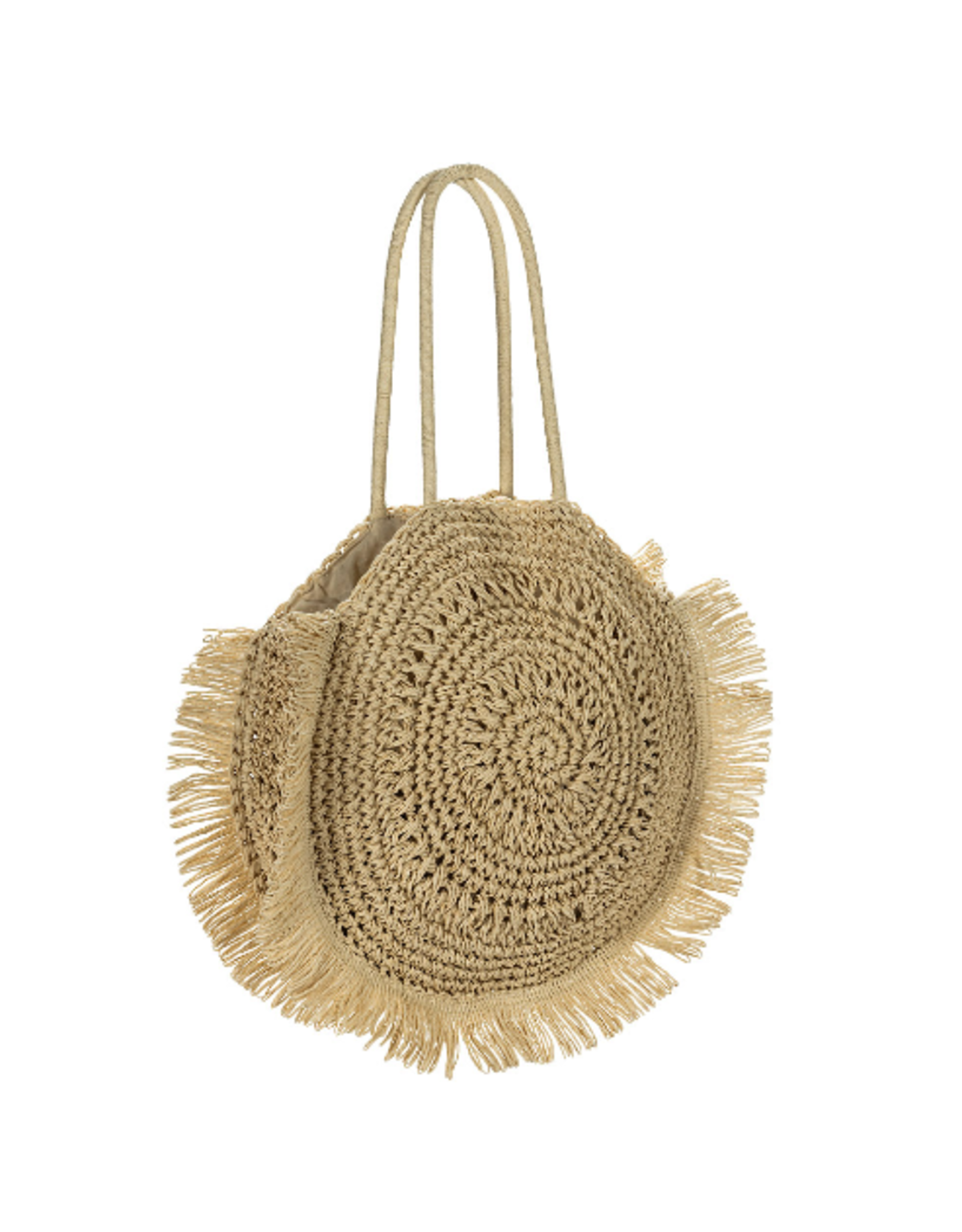 Abbott Round Crochet Tote Bag
