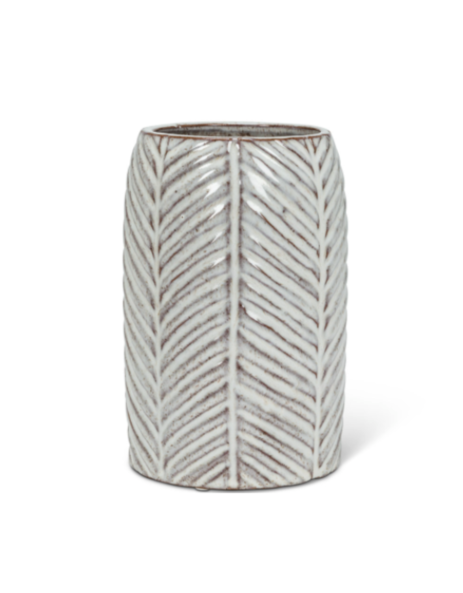 "Abbott Medium Herringbone Vase 7"""