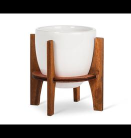 Abbott Small Pot w/ Wooden Stand