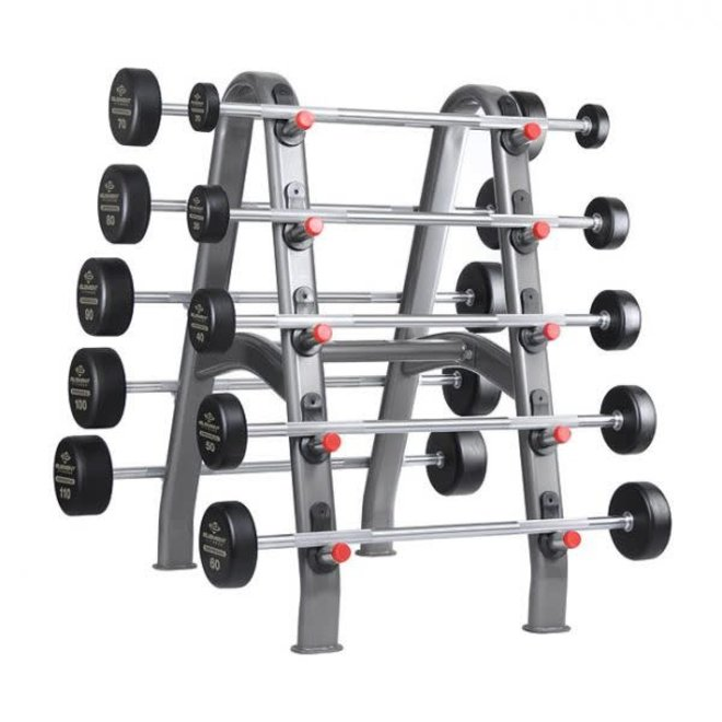 Element 20-110lbs Straight Rubber Barbell Set (10 bars) rack not included