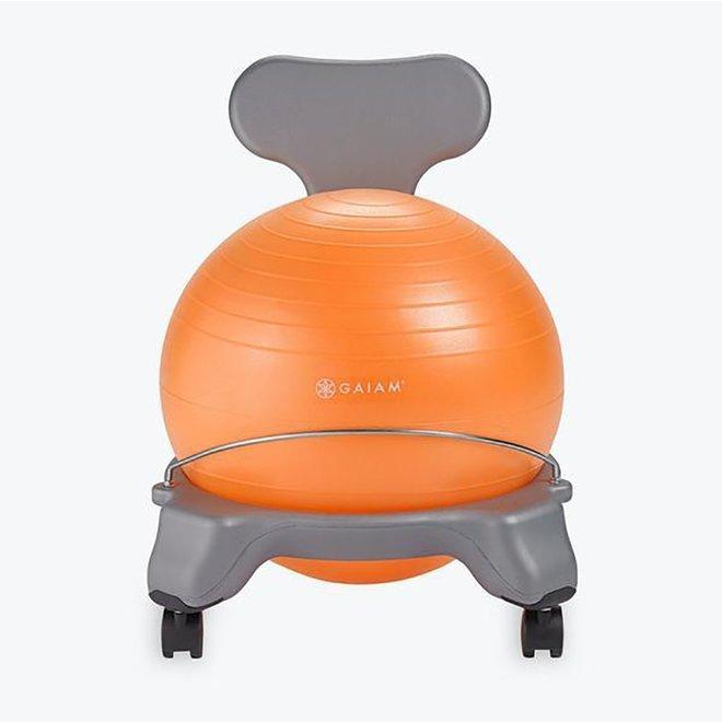 Kids Classic Balance Ball Chair - Orange Ball/Grey Base