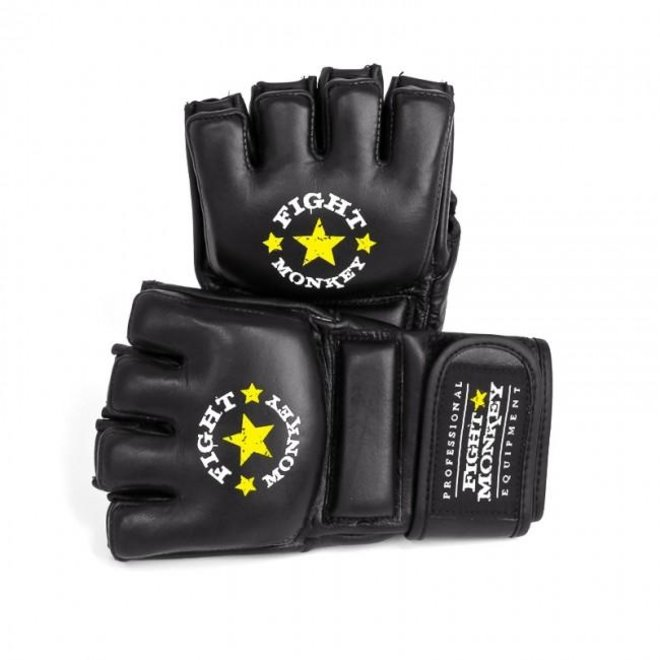 Fight Monkey Premium Leather MMA / Bag Gloves (XS Leather)