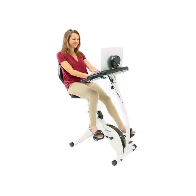 FitDesk Recumbent Bike desk w/tablet holder