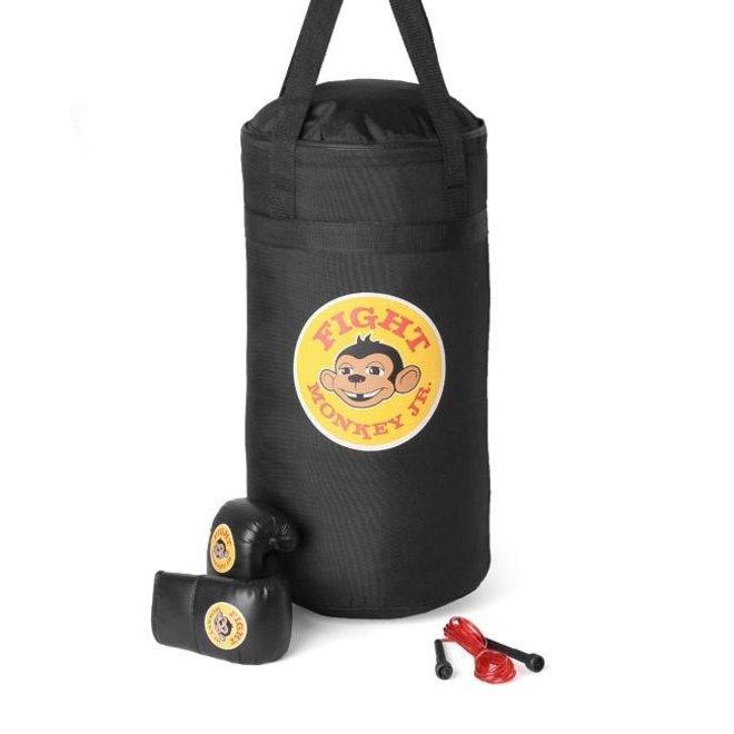 Fight Monkey Jr. Youth All Purpose Starter Kit (Includes 25lb Bag, Jr. Bag Gloves and Adjustable Speed Rope)