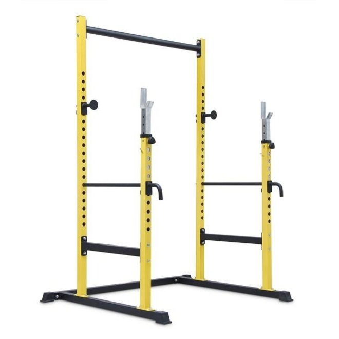 Fit505 Yellow Half Rack with Pull Up Bar