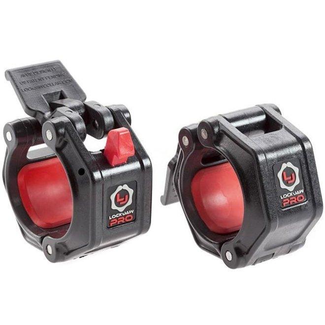 Lock Jaw Pro 2'' Olympic Collars Black/Red pairs