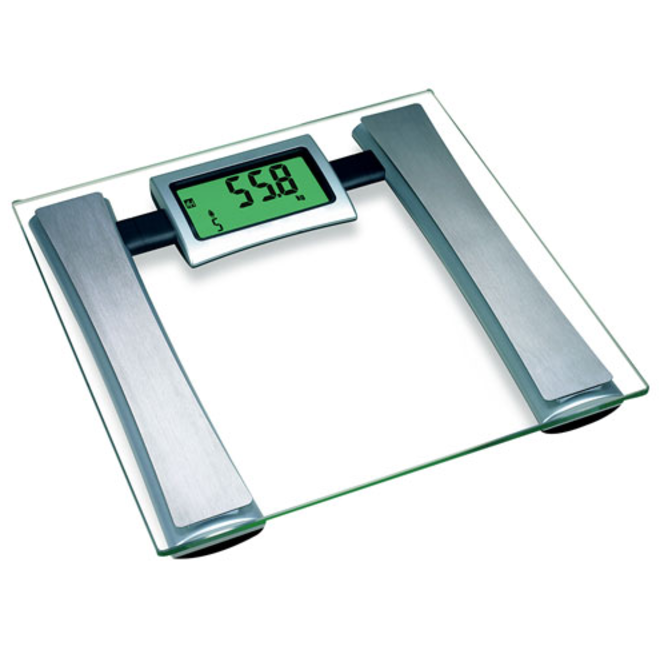 ERP Glass Body Fat Scale - Measures Weight, Body Fat Percentage and Water Percentage (330lbs)