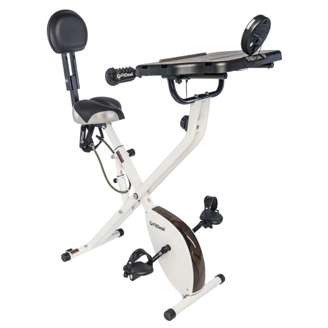 Fitdesk Bike Desk with Massage Roller and Tablet Holder (users 4'10''- 6' 6'')