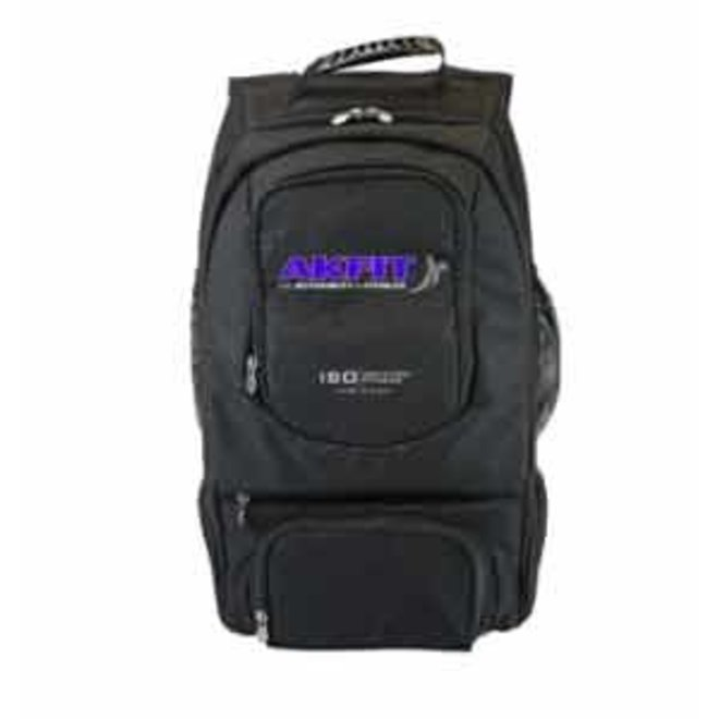 6 meals IsoPack Backpack (Black) with 2 x 12oz, 2 x 16oz, 2 x 28oz, 2 x 38oz containers and 2 x IsoBricks