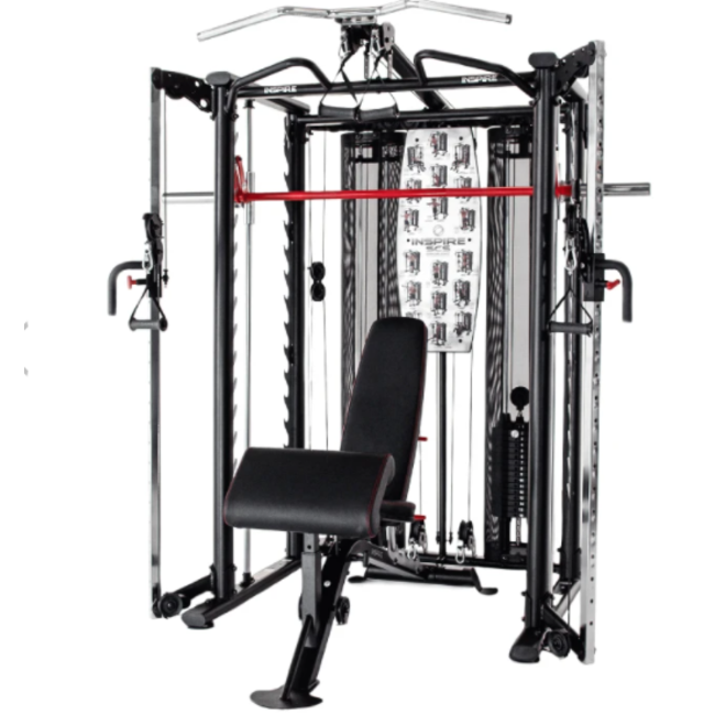 Inspire SCS Smith/Functional Trainer/Power Rack Package (Includes SCS102, SCS202, SCS002, SCS-WB,SCS-PC, SCS-LE, SCS-WB, 2 x SHC2)