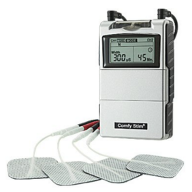 ERP Physio SD Combo TENS/Muscle Stimulator, set includes Tens/Recharable Batteries, Charger, 4 sets of adhesive electrodes