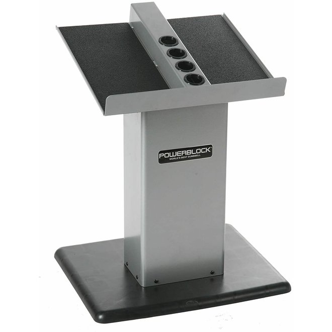 Powerblock Large Silver Column Stand holds up to 90lbs  (Sport EXP, Pro EXP Pro 50 set)