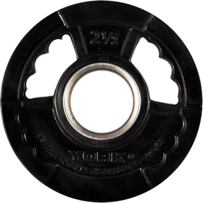 """York 2"""" G2 Rubber Olympic Weight Plate"""
