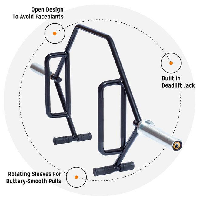 BOS Open Trap Bar / Hex Bar 3.0 - Rotating Sleeves