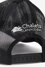 AJM INT'L Casquette noire en polyester pré-lavée à mailles en nylon doux ajustable