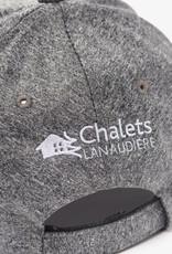 AJM INT'L Casquette grise en polyester pré-lavée forme profonde renforcée