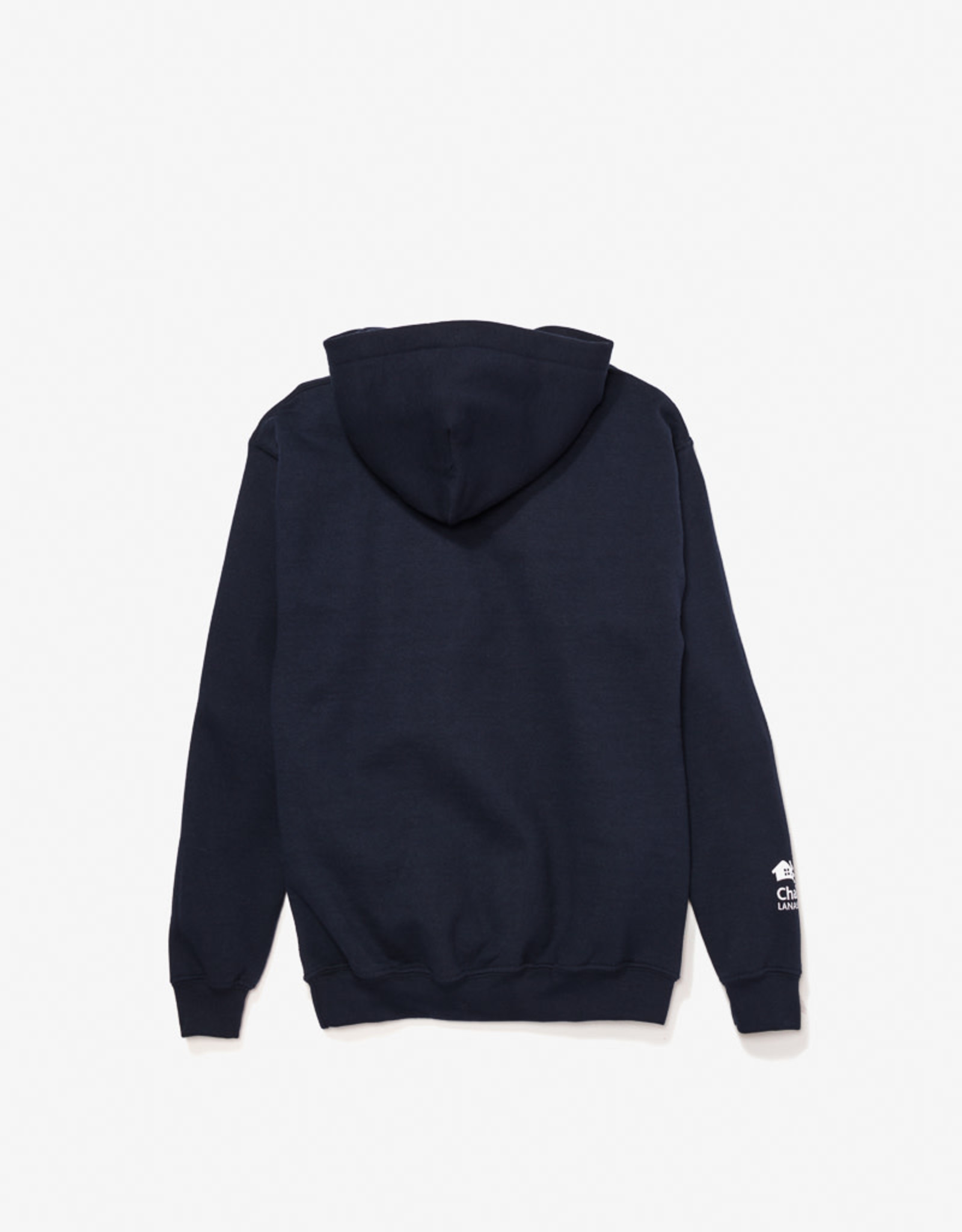 GILDAN Navy blue kangaroo printed sweatshirt for children