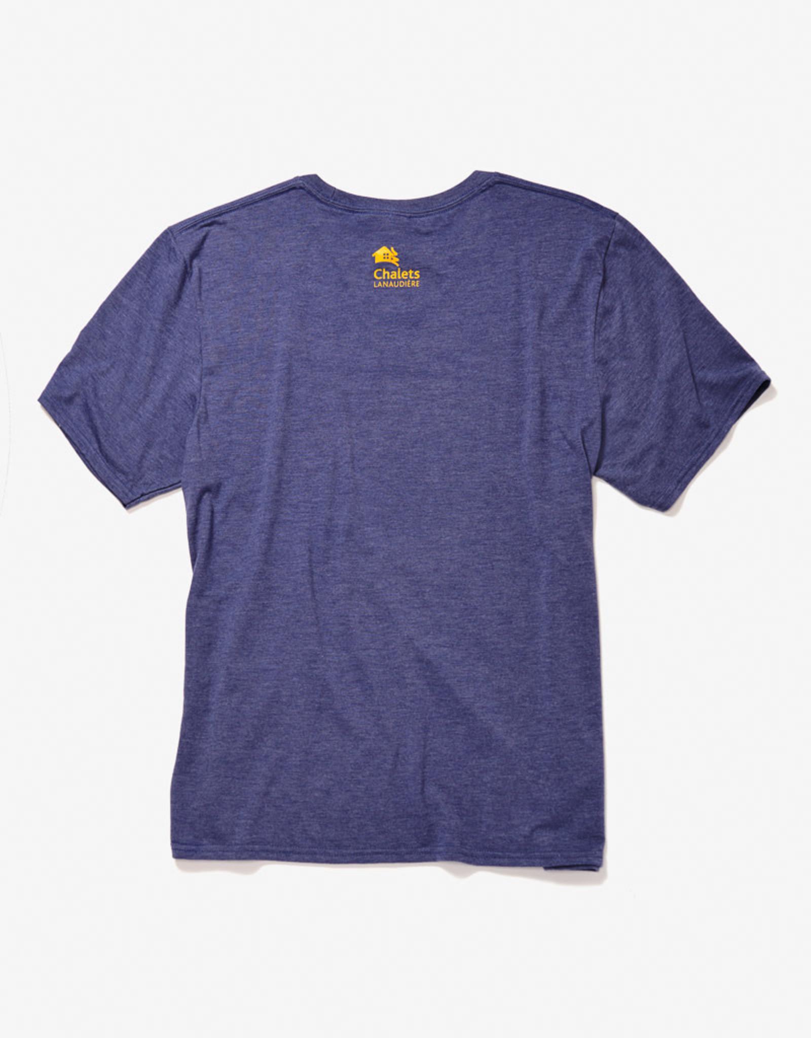 SPORT-TECH T-shirt hommes imprimé bleu heather