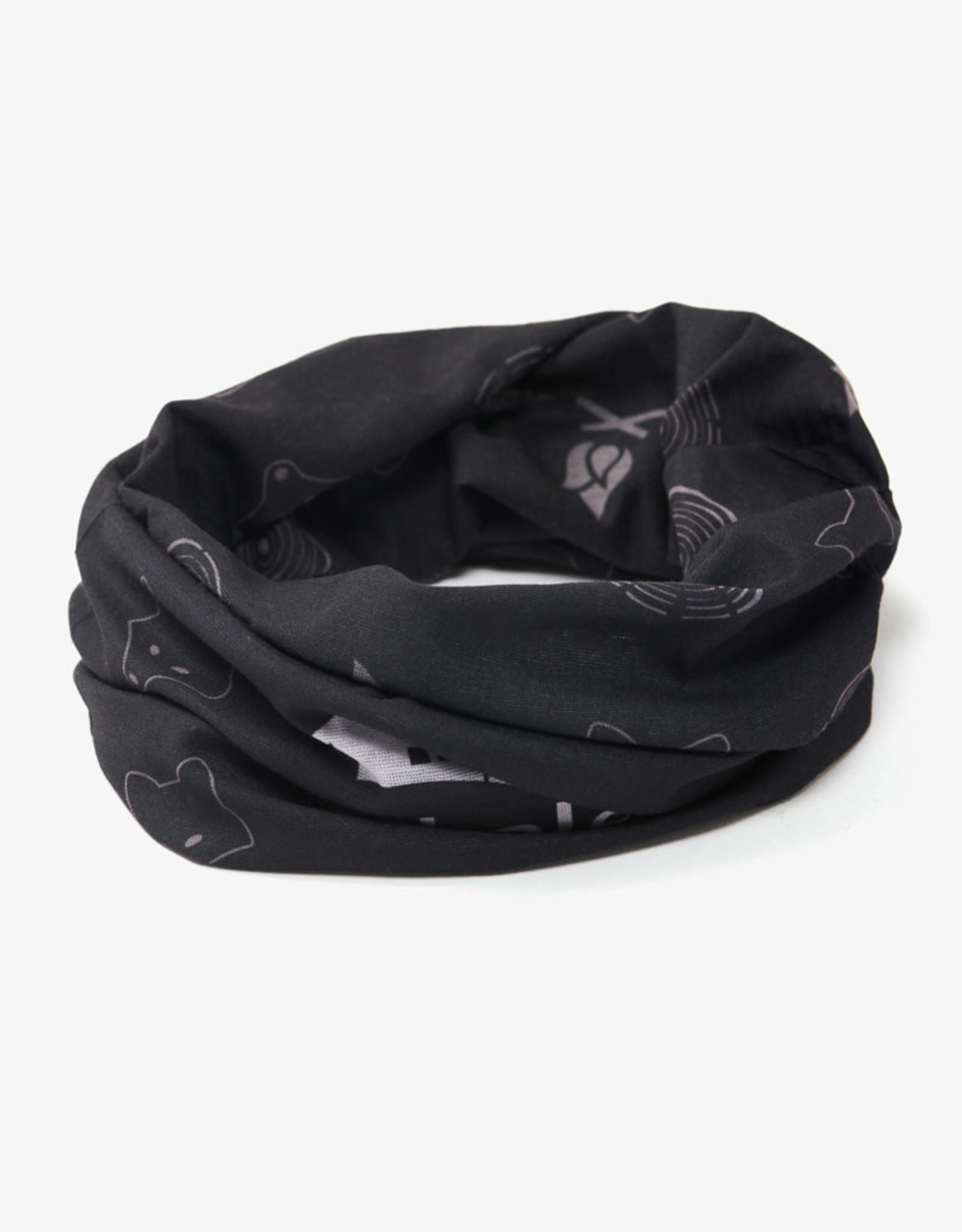 TUBERZ Black sport wrap neck tube