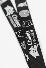 Porte-clés lanière noir en polyester