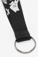 Polyester black key lanyard