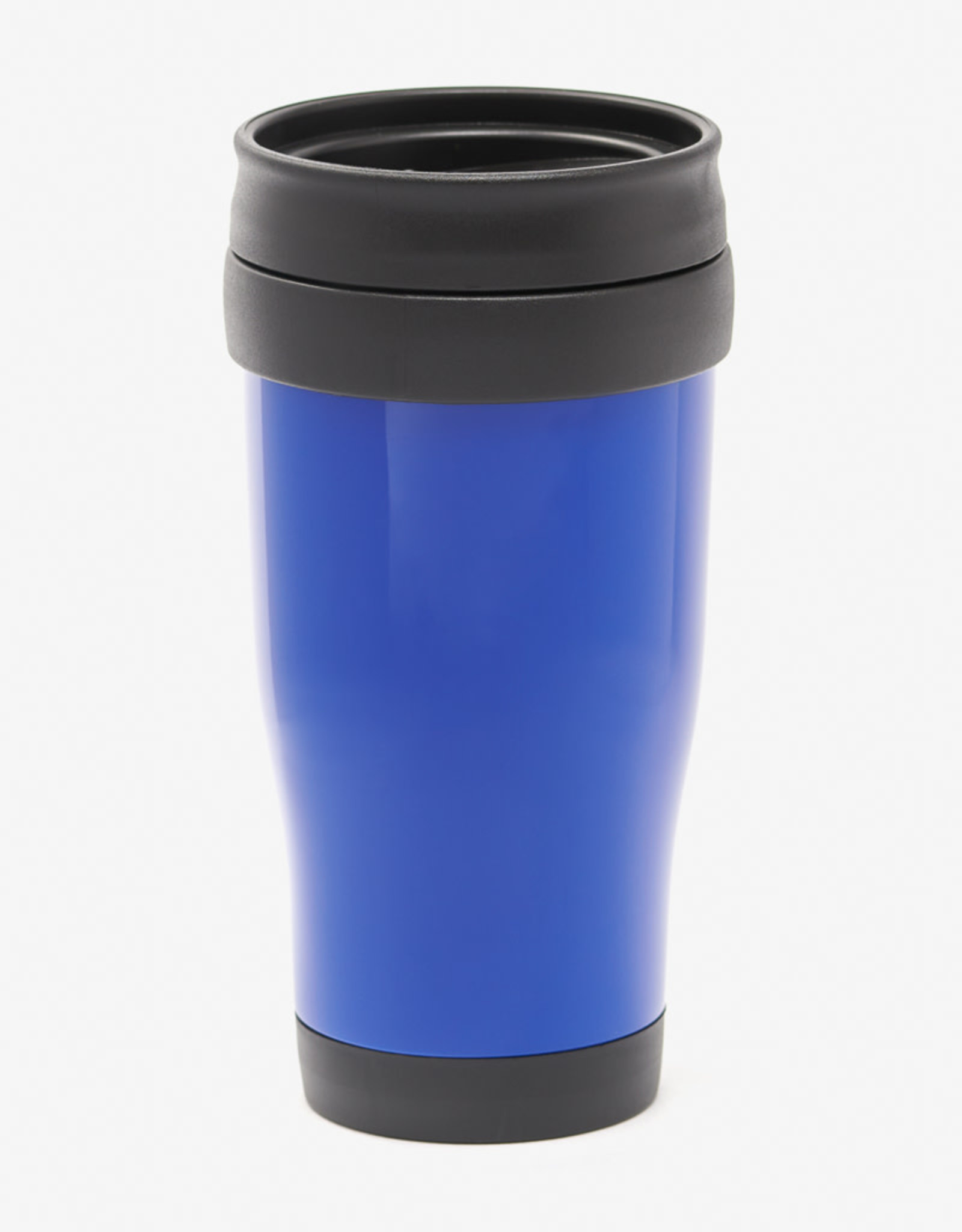 Insulated coffee cup, plastic 16 oz blue