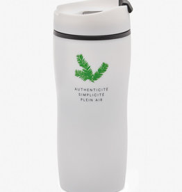 White insulated cup 20 oz