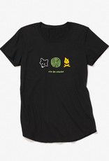 ANVIL Black printed t-shirt for women