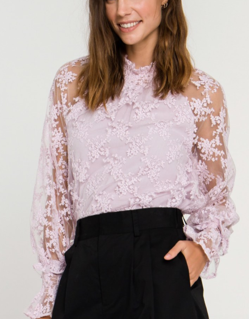 Free The Roses Lace Long Sleeve