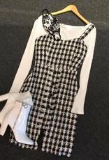 J.O.A Houndstooth Dress