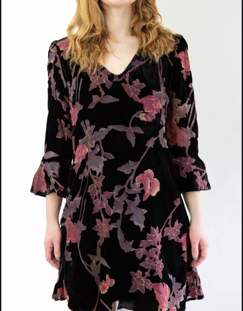 Mystree Black Floral Dress